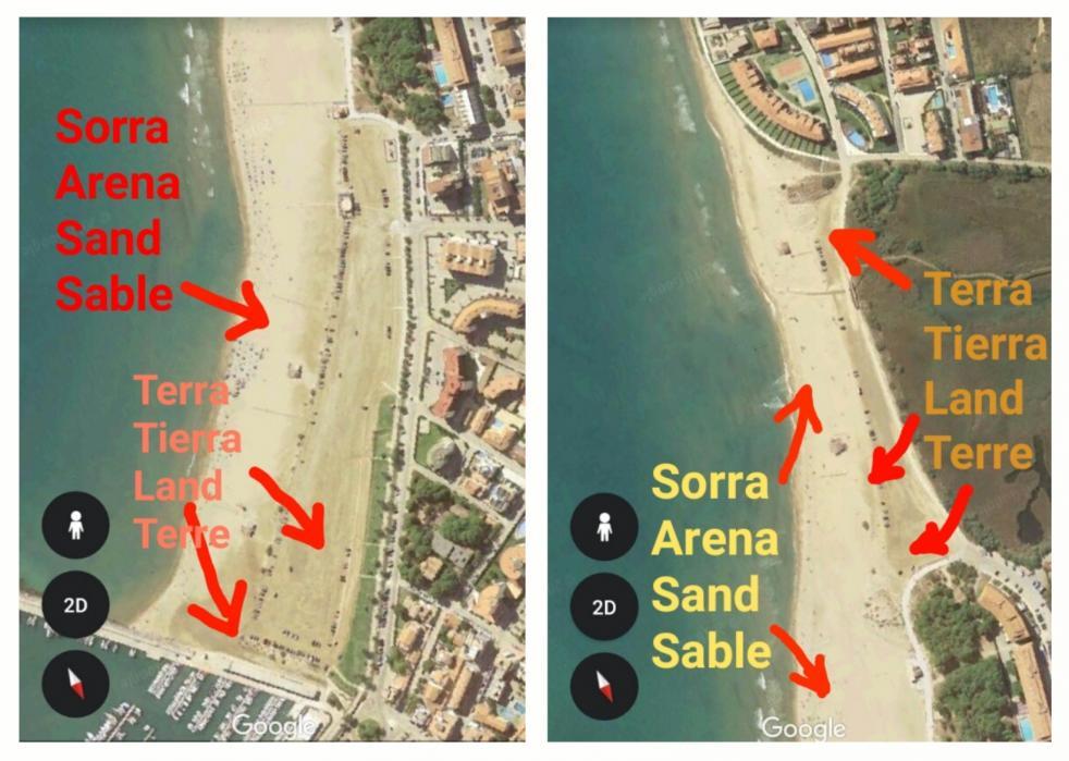 Sorra terra platja estartit